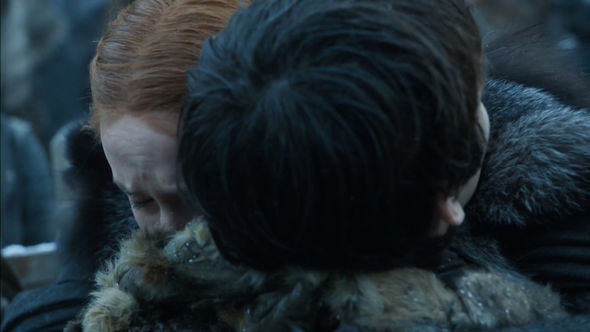 The Stark siblings had an emotional reunion