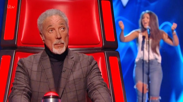 The Voice UK 2017 Tom Jones listens to Ciara Harvie