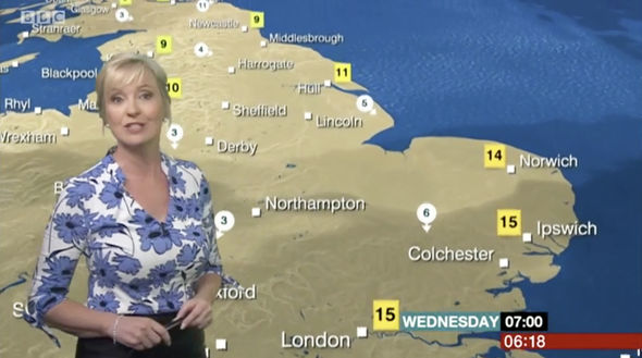 The weather presenter wore a gorgeous blouse