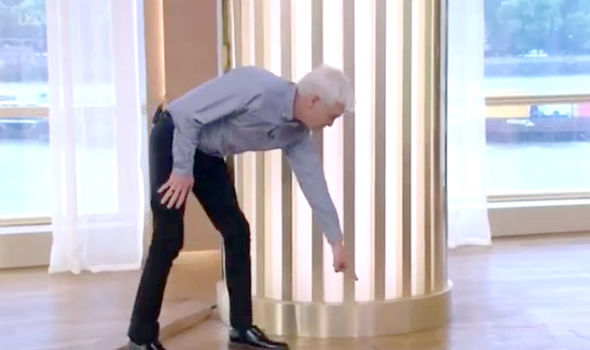 Phillip Schofield pointed out the puddle in the studio