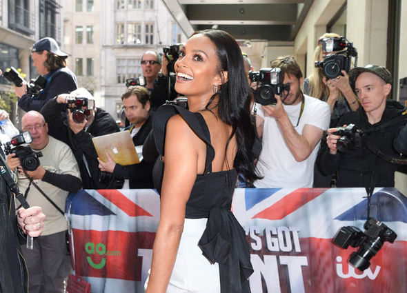 Alesha Dixon laughing