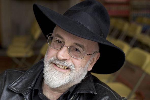 Terry Pratchett before his death