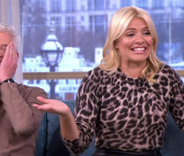 Holly Willoughby In Shock As Phillip Schofield Gives Her Erect Nipples Tv Radio Showbiz Tv Express Co Uk