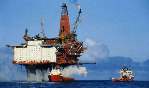 Image result for North Sea oil, photos
