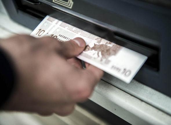 A person getting Euros