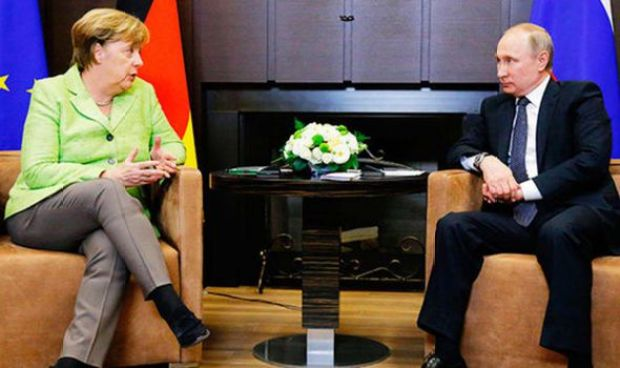 Mrs Merkel is meeting with Mr Putin today and they will talk sanctions