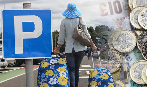 Airport car parking pick-up fees