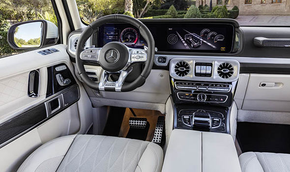 Mercedes Benz AMG G Class G63 interior  Mercedes AMG G63 2018 REVIEW: Road test, UK price, specs and performance | Cars | Life & Style Mercedes Benz AMG G Class G63 1365829