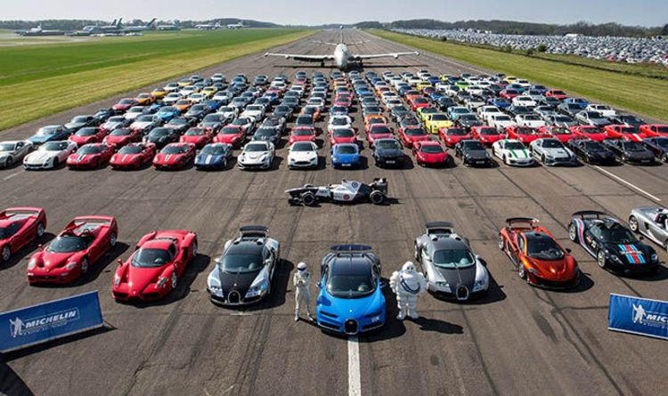 Supercar Meetup Displays 210 Rare Cars Worth Around