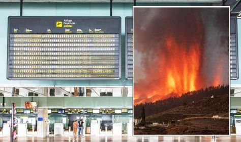 'Very scary!' La Palma airport closed as volcanic ash continues to rain from the sky