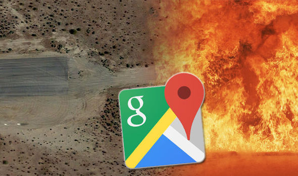 Google Maps Street View  End of the World sign shows hell in     Google Maps