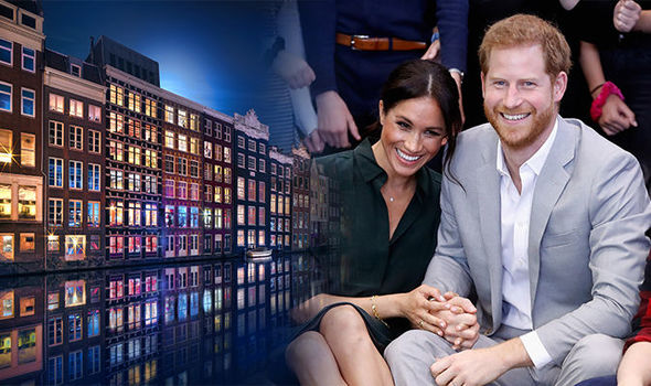 Prince Harry Meghan Markle: The pair had an awkward run in at Amsterdam