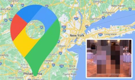 Google Maps Street View: Man's body snapped in highly disturbing pose at formal event