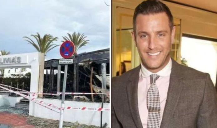 Fuengirola news: Expat Elliott Wright's Olivia's La Cala restaurant burnt down in fire