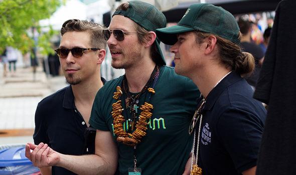Hanson at their beer festival HopJam