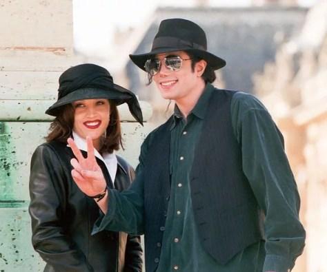 Michael Jackson and Lisa Marie Presley in Paris