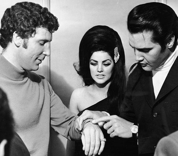 Tom Jones with Elvis and Priscilla backstage at The Flamingo in Las Vegas