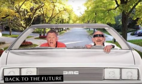 James Bond goes Back to the Future: Christopher Lloyd and Daniel Craig's Marty McFly WATCH