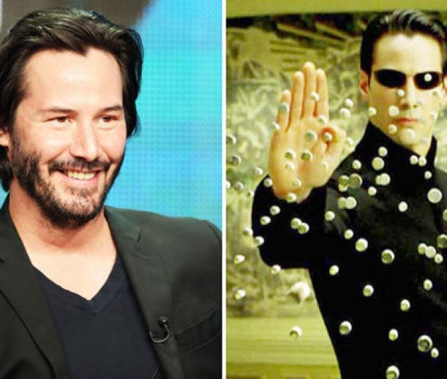 Keanu Reeves And Neo Stopping Bullets In Matrix