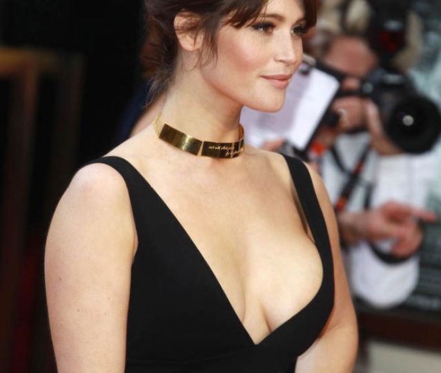 Gemma Arterton In A Low Cut Dress