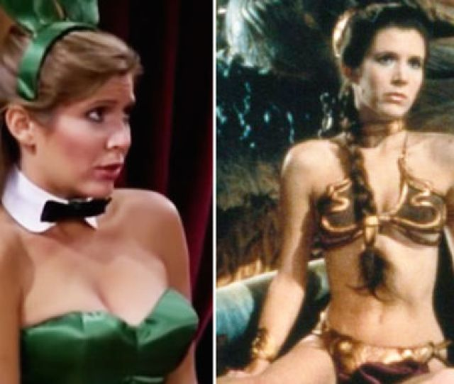 Star Wars Carrie Fisher As A Playboy Bunny With Hugh Heffner