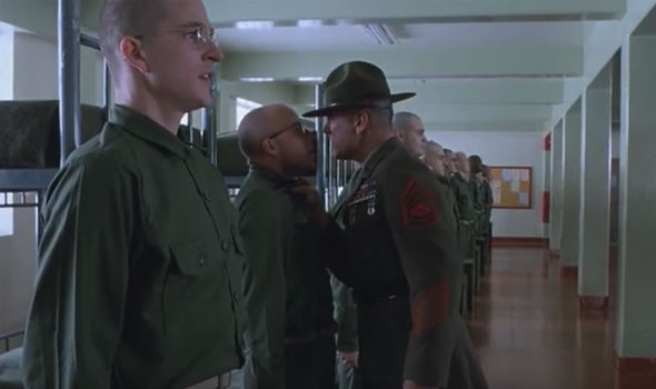 sarg shouting at marines