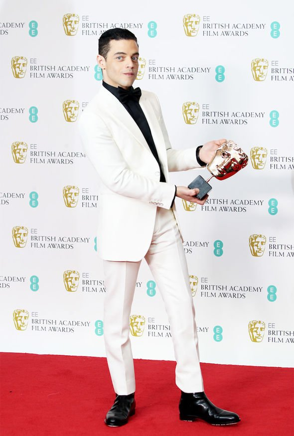 rami with his bafta
