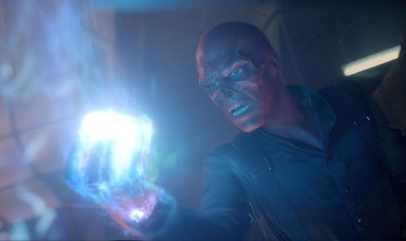 red skull holding the space stone