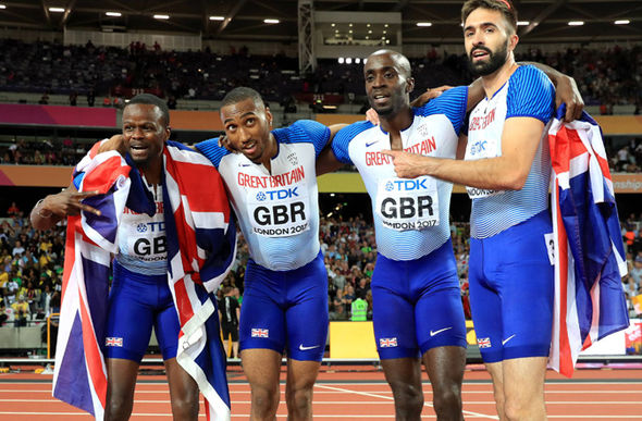 Team GB 4x400m relay team