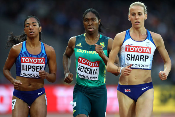 World Athletics Championships 2017 contender Caster Semenya and Lynsey Sharp