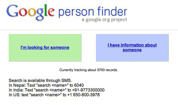 Person Finder: Google Launches Databse To Find Missing