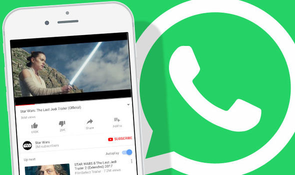 WhatsApp looks set to make watching YouTube videos much easier