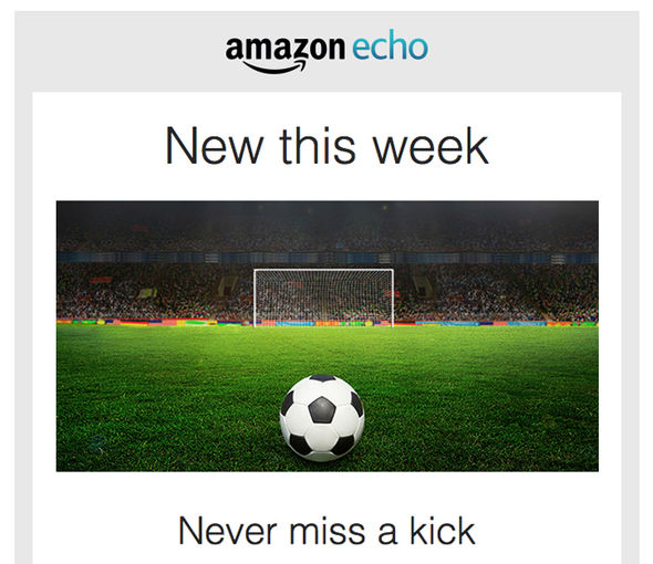 Ahead of the weekend's sport fixtures, Amazon has emailed some new tips to Echo owners