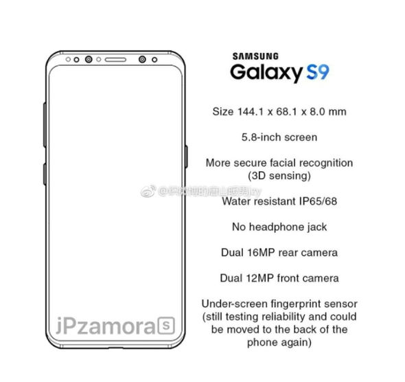 The Galaxy S9 will purportedly ditch the 3.5mm port, like the latest devices from HTC, Apple and Google