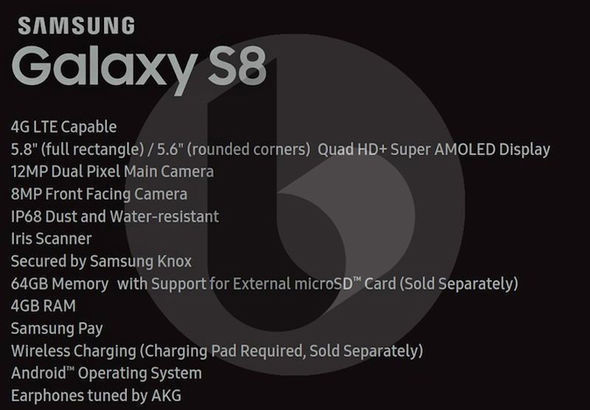 The specs sheet of the Galaxy S8 and Galaxy S8 have leaked online