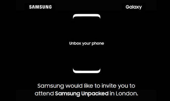 Samsung Galaxy S8 event invite