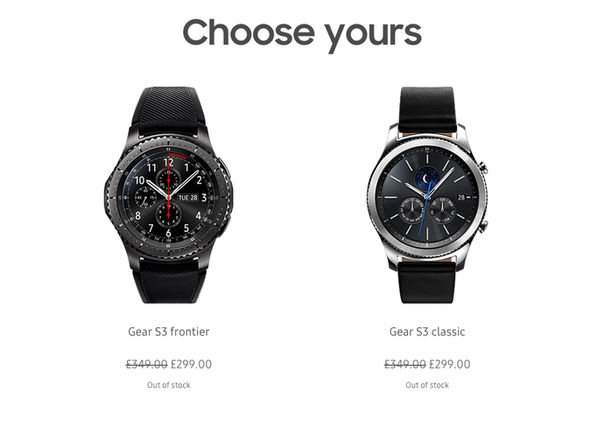 The new deal is clearly popular – with Samsung listing both smartwatches as Out Of Stock