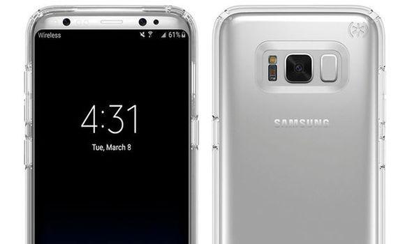 samsung galaxy s8 case leak screen