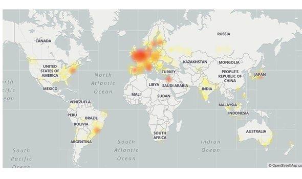 Gmail dow: DownDetector menunjukkan masalah mulai muncul sekitar jam 8 pagi pada hari Senin