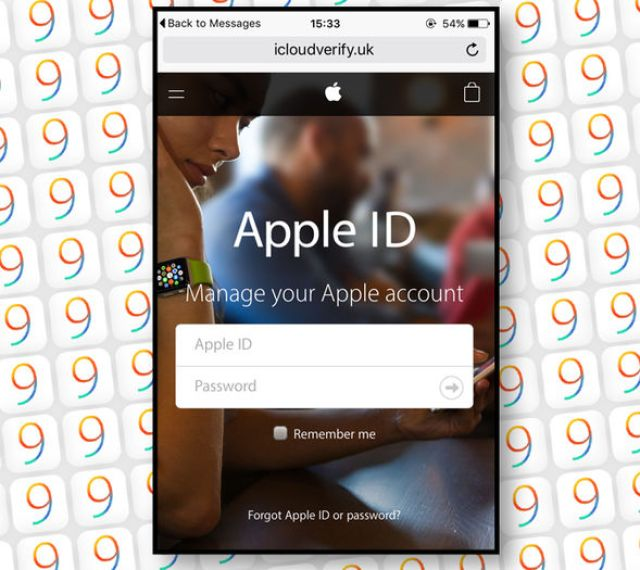 The URL in the text message takes users to a terrifyingly convincing Apple iCloud login portal