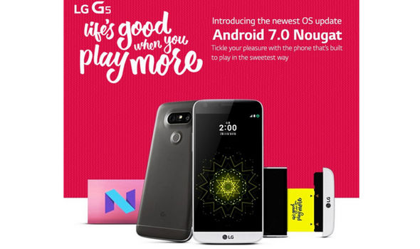 lg g5 android nougat update now