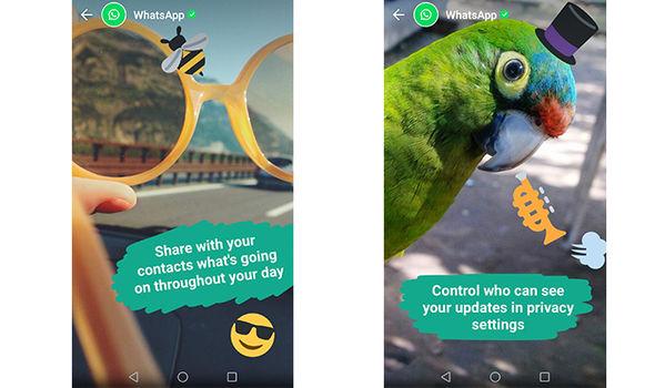 whatsapp status emoji words pictures video