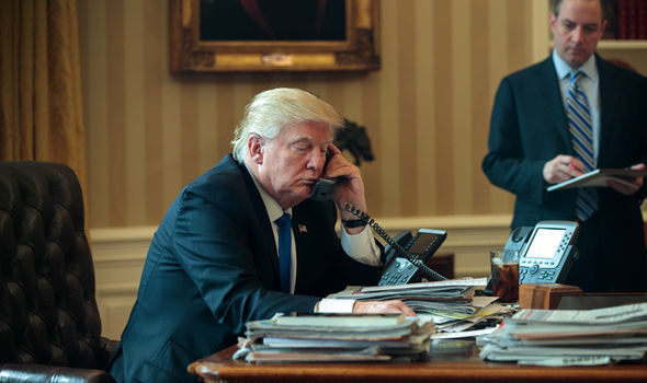 donald trump oval office talking phone