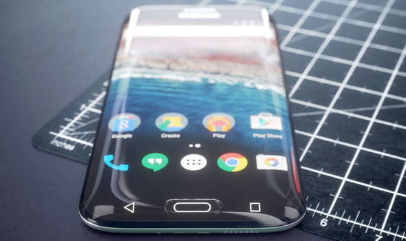 samsung galaxy s8 concept curved screen