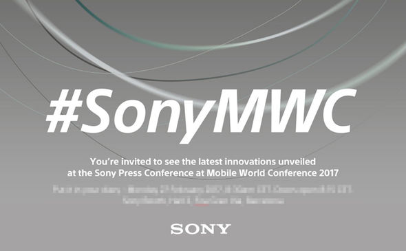 sony xperia press conference mwc 2017 invite