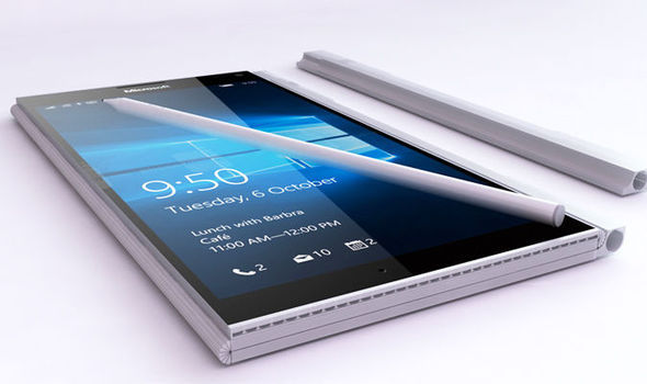 microsoft surface phone build design fold