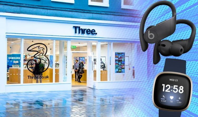 Three is giving away FREE Beats headphones and Fitbit trackers when its shops re-open