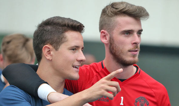 Ander Herrera and David de Gea