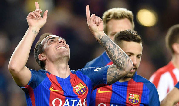 Paco Alcacer Barcelona Lionel Messi