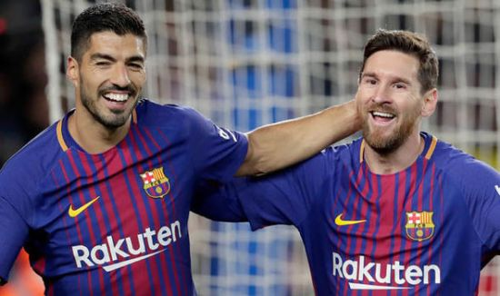 Image result for lionel messi and luis suarez